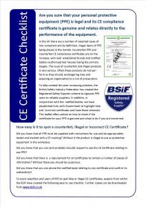 Certificate checklist
